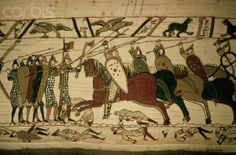Detail of Battle of Hastings Scene from The Bayeux Tapestry - NW005602 - Rights Managed - Stock Photo - Corbis
