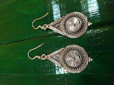 Pendientes plata diseño hindú