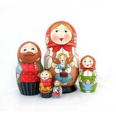 "Traditional Matryoshka ""With Dolls"" - An exclusive nesting doll, handcrafted by the artist to win the heart of anyone, who sees it! These days, a matryoshka is not just a beautiful toy, but also a keeper of Russian culture, being a favorite of both tourists, as well as serious collectors."