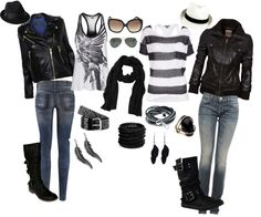 "I know it says biker chick but I think this has Vanessa written all over it. :) ""Biker chick"" by fitmamma21 on Polyvore"