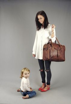 The Vagabond Family Bag: vintage style brown by VintageChildShop