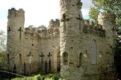Reigate Castle Grounds. Reigate, Surrey, UK