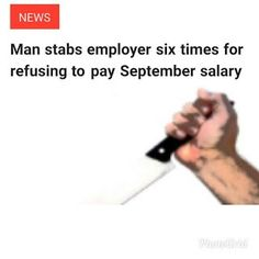 A 30-year-old Mumbai man Mosses Cardoza is in police custody for stabbing his employer six times with a sickle for not paying his salary. Cardoza stabbed the manager Rishikant Vadkar in his neck chest head and back for his failure to pay his September salary. Cardoza an employee for a housekeeping firm committed the offence at their office in Tardeo on Monday. According to the police the accused had been working with the firm for the past one year. Hindustantimes reports that Cardoza was…