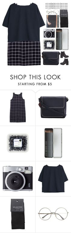 """we're smiling but we're close to tears"" by indie-by-heart ❤ liked on Polyvore featuring Olive + Oak, Caran d'Ache, Fujifilm, MANGO and SELECTED"