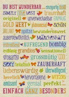 Eine kleine Deutschkiste: Positive Eigenschaften beschreiben
