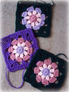 Eight Petal Granny Square pattern by zelna olivier - Free Crochet Pattern Crochet Blocks, Granny Square Crochet Pattern, Crochet Squares, Crochet Granny, Crochet Motif, Crochet Stitches, Crochet Patterns, Granny Squares, Love Crochet
