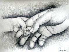 Resultado de imagen de dibujo manos padre e hijo
