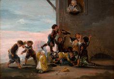 """Francisco de Goya, """"Enfants se battant pour des châtaignes"""", Série Scènes de jeux d'enfants 5/6, 1782-1785, Fondation de Santa..."""