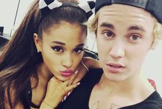 Ariana Grande & Justin Bieber backstage at the Honeymoon Tour Ariana Grande Justin Bieber, Ariana And Justin, Ariana Grande News, Ariana Grande Cute, I Love Justin Bieber, Adriana Grande, Alesso, What Do You Mean, Dangerous Woman