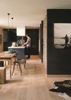 Keuken met parketvloer met brede planken Palazzo van Quick-Step #parket #parketvloer #keuken