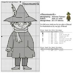 Bilderesultat for moomin cross stitch pattern Beaded Cross Stitch, Cross Stitch Embroidery, Embroidery Patterns, Crochet Patterns, Knitting Machine Patterns, Knitting Charts, Cross Stitch Designs, Cross Stitch Patterns, Les Moomins
