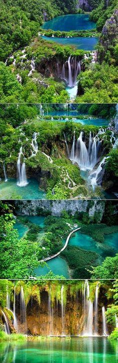 amazing waterfalls  croatia