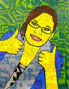 For the Love of Art: 6th Grade: Chuck Close Self-Portraits