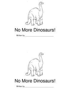 No More Dinosaurs Book