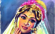 50 Most Beautiful Indian Paintings from top Indian Artists. Read full article: http://webneel.com/indian-paintings | more http://webneel.com/paintings | Follow us www.pinterest.com/webneel