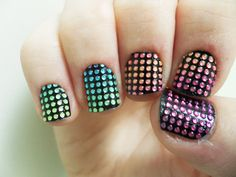 Claws Up: Sephora Nail Bling Black Rainbow