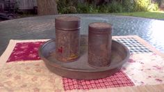 Vintage Baking Tins by ArtandBookShop on Etsy, $12.00