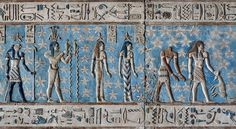 [EGYPT 29534]<br /> 'Zodiac sign Aquarius at Dendera.'<br /> <br /> Wearing a papyrus crown and pouring water from two vessels, the Nile-god Hapi personifies the zodiac  sign Aquarius on the astronomical ceiling in the outer hypostyle hall of the Hathor Temple at Dendera. The ceiling consists of seven separate strips but here we are looking at a detail of the upper register of the EASTERNMOST STRIP.<br /> There are six zodiac signs depicted in the entire easternmost strip and the other six…