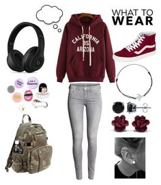 """""""school outfit #idk"""" by nighi on Polyvore featuring Vans, BERRICLE, Daisy Knights, Rothco, Beats by Dr. Dre, women's clothing, women, female, woman and misses"""