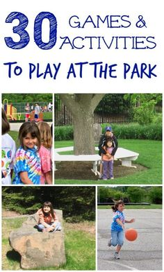 Great ideas for things to do on your next visit to the park!  Outdoor games for kids & families!