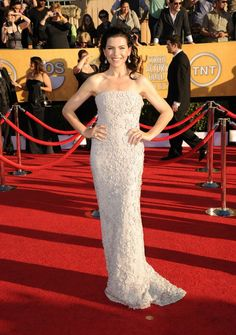 Juliana Margulies in a custom Calvin Klein Collection dress at The SAG Awards