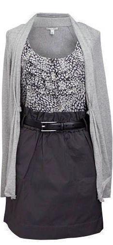 A black and grey outfit.  Oh, Banana Republic!