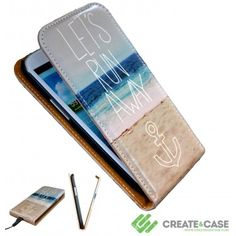 "Samsung Galaxy s3 case Artist Designed flip case ""Let's Run Away III"" (Leather Collection)"