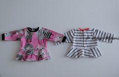 Luomalla: Baby Bornille body, peplum, frillamekko ja housut (sisältää kaavat!) Doll Clothes Patterns, Clothing Patterns, Little Darlings, Diy And Crafts, Peplum, Barbie, Rompers, Dolls, Sewing