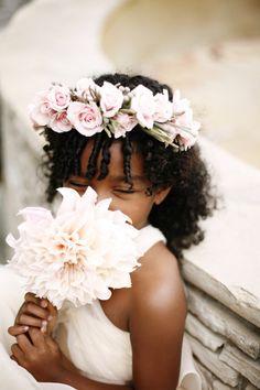 Such a precious photo. Flower girl fashion!