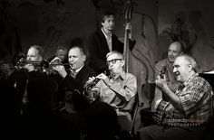 Woody Allen and jazz band