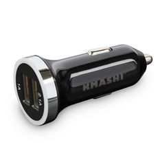 KMASHI K-CC001 Dual Micro High Current Car Charger - 3.1 Amp / 15W Universal 2-Port, Dual USB Car Charger for...