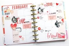February 2016 monthly layout in The Happy Planner™ of mambi Design Team member April Orr | me & my BIG ideas