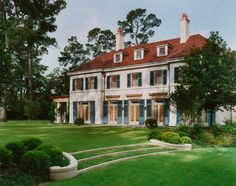 Front Facade and Gardens, Knollwood Residence, Houston, Texas