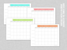 free printable weekly family calendar
