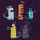 Secretly Vegetarian Monsters by nic squirrell
