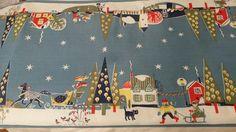 Kajsa Nordströms underbara klassiska julduk som LÖPARE från 1950-talet
