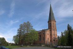 Liperin kirkko. Valmistunut 1858. Suunnittelija Georg Theodor von Chiewitz.