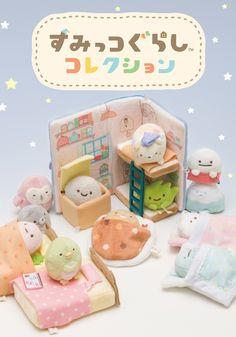 San-x Sumikkogurashi stuffed animals Picture Book 4974413672603 Mini Things, All Things Cute, Kawaii Crafts, Kawaii Room, Doll Furniture, Dollhouse Furniture, Rilakkuma, Cute Toys, Cute Characters