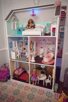 Doll house from American Girl Doll Themed Birthday Party at Kara's Party Ideas. See more at karaspartyideas.com!