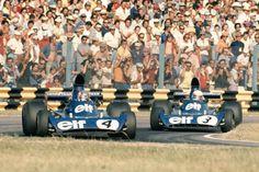 Patrick Depailler & Jody Schecter (Tyrrell-Ford) Grand prix d'Argentine - Circuit Oscar Alfredo Galvez 1974