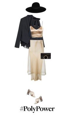 """""""30/365: Black+Nude"""" by liska-lis ❤ liked on Polyvore featuring Brunello Cucinelli, Comme des Garçons, Gucci, Chloé and Maison Michel"""