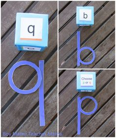 reversals- this game has students roll a die and then has different games to go along with it. One of the games is having the student create the letter that was rolled using precut circles and lines. I like this as all of these letters (p, b, q, d) ae created using a circle and a line, but the position is what changes. This has students physically manipulating these 2 shapes to make letters.