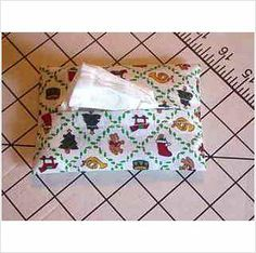 Purse / Pocket Size Tissue Cover - Christmas Ornaments