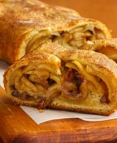 Strudel is a great Eastern European Dessert Favorite. Store-bought Fillo dough makes Strudel a snap to make. Scroll down for strudel filling variations.