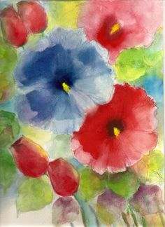 Original Water color Painting floral  Abstract by veekayart2010, $25.00