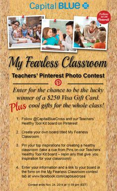 "New Contest for K-8 teachers! One lucky teacher will win a $250 Visa gift card for the classroom, plus goodies like iTunes or Barnes and Nobel gifts cards for the entire class! Get full details on our Facebook Tab (you may need to click under ""More"" to view the tab). http://a.pgtb.me/mQ3Q9q"