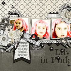 Everything from You and Me by Designs by Kat except for Bird from Tomorrow's Yesterdays by Tracie Stroud, and black ribbon from Today Is by Captivated Visions, July SO challenge template by Scrapping With Liz, font Old Newspaper Types.