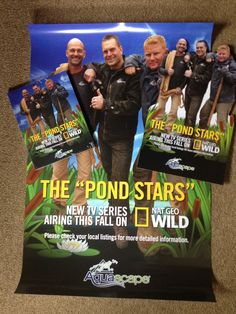 Pond Stars promotional material just arrived!!!!!!!!!!!!!!!!!!!!!!!! #pondstars #aquascapes