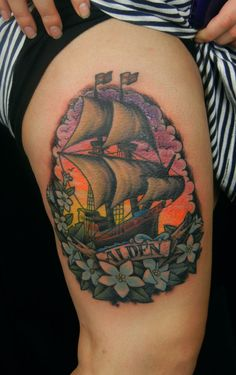 ✿ Designed and tattooed by Megon Shore @ Under The Needle in Seattle, WA ✿