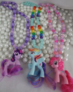 My Little Pony Friendship is Magic Necklace  PICK ONE by deastar, $20.00